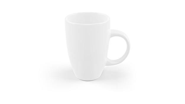 White ceramic mug mockup isolated