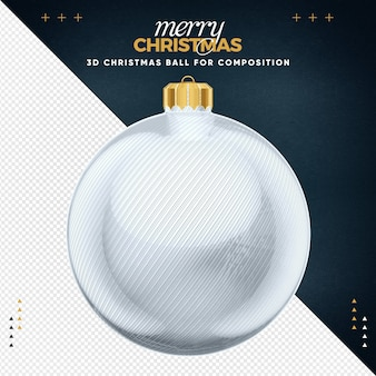 White christmas ball for composition