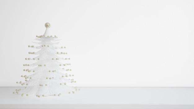 Белая новогодняя елка