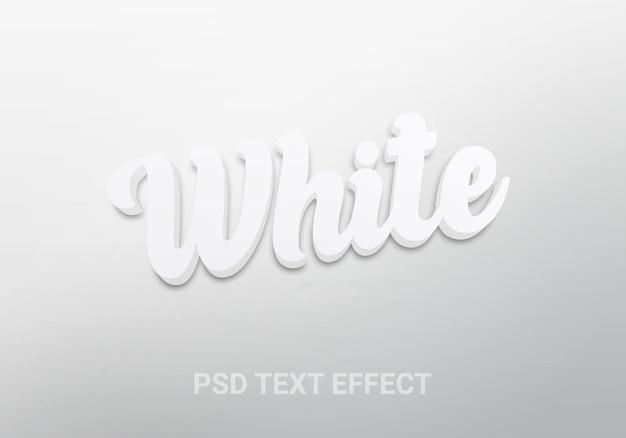 흰색 깨끗한 3d 편집 가능한 텍스트 효과