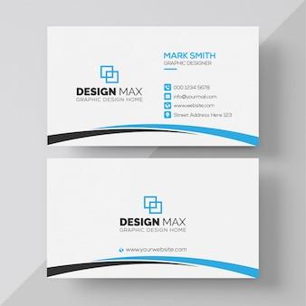 White & clean business card