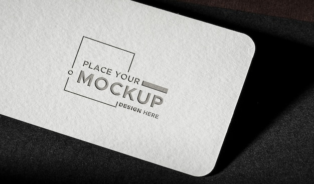 White close-up business card mock-up