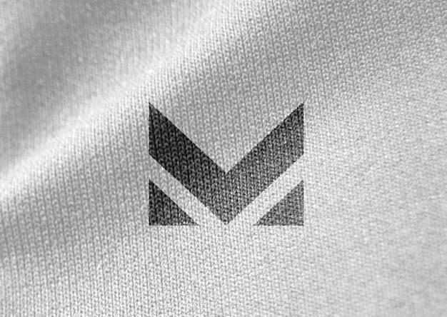Белая ткань крупным планом реалистичный макет