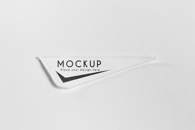 흰색 의류 패치 패브릭 모형