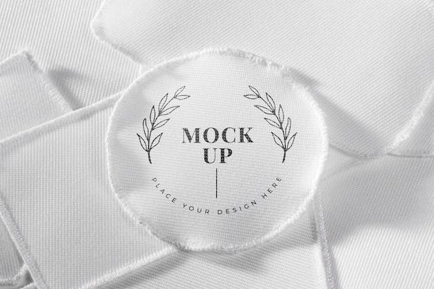 Текстильный макет белой нашивки