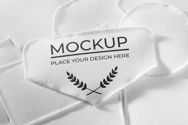Текстильный макет белой нашивки Premium Psd