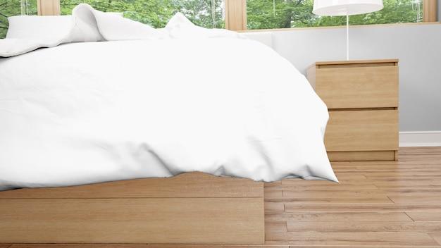 Белый одеяло или одеяло крупным планом