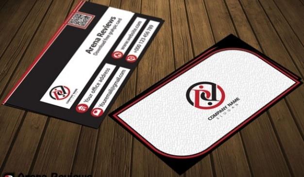 White company card psd template