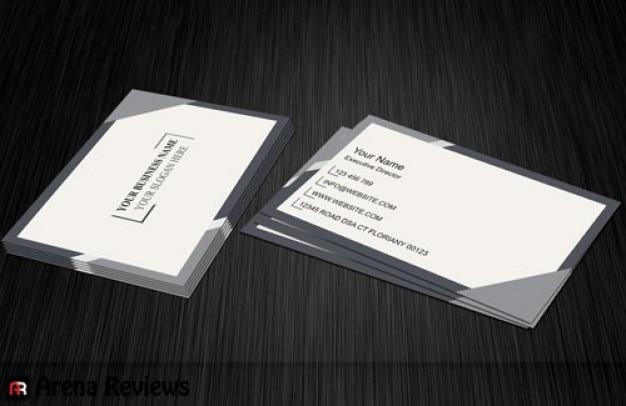 White company card template