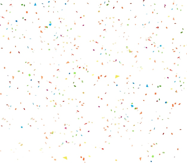 White confetti background