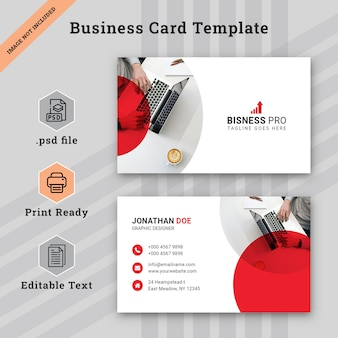 White corporate business card template