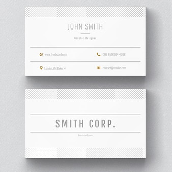 White corporate card