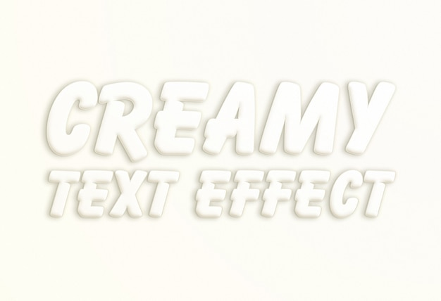 White creamy text effect
