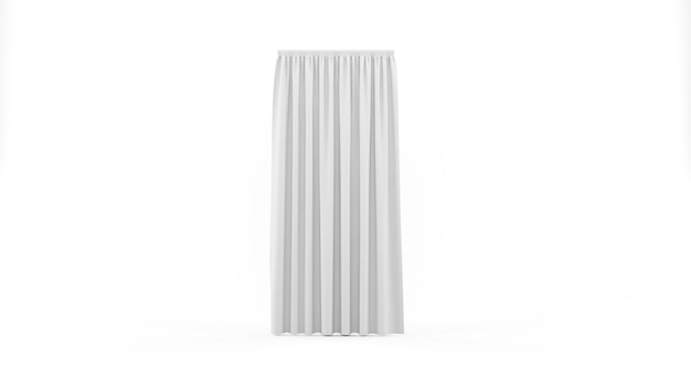 White curtain isolated