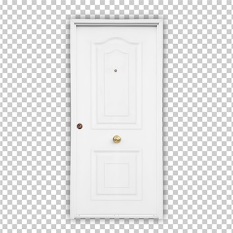White door isolated