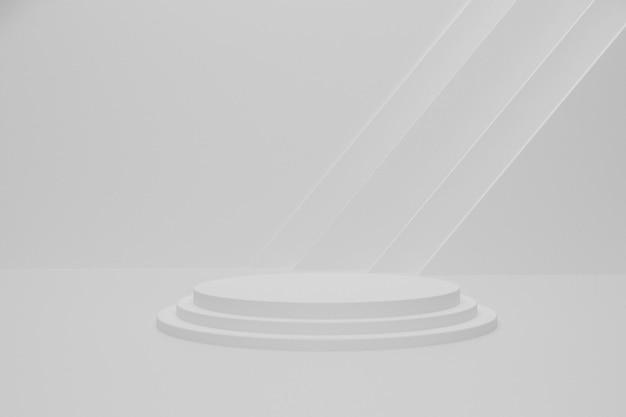 White empty 3d render podium