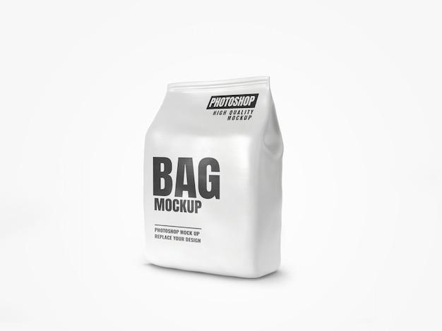 Реалистичная белая сумка для еды
