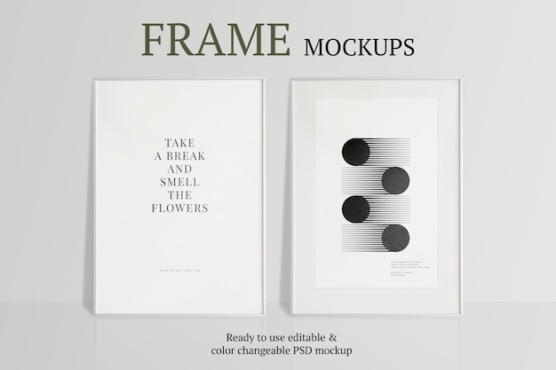 White frame on a wall with natural light