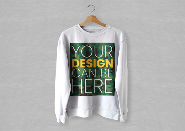 White front sweater mockup