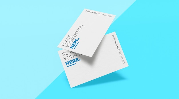 White front view business card mockup premium psd vol.5