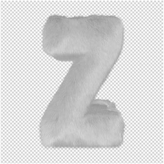 흰색 모피 편지 3d 렌더링