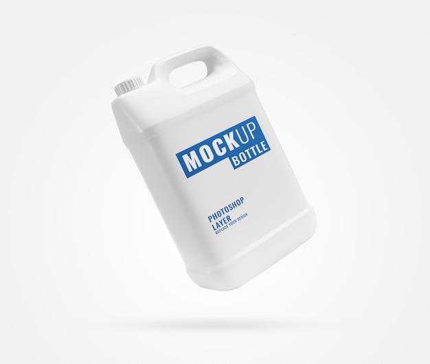 White gallon bottle mockup