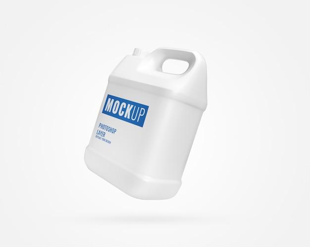 White gallon container mockup