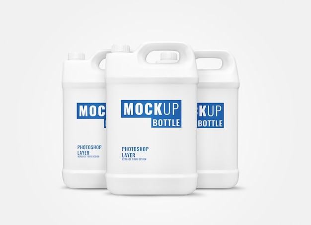 White gallon mockup realistic