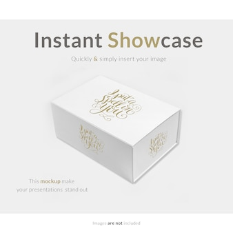 White gift box mock up