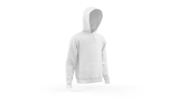 Modello di mockup con cappuccio bianco isolato, vista frontale