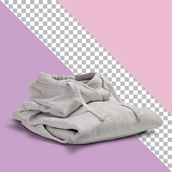 透明な背景に分離された白いパーカーセーター