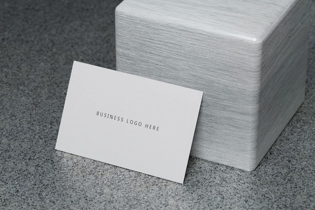 White horizontal business card paper mockup template with blank space cover