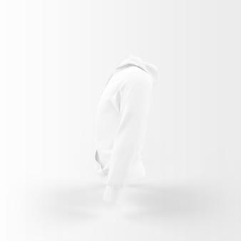 White jacket floating on white