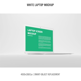 White laptop mockup
