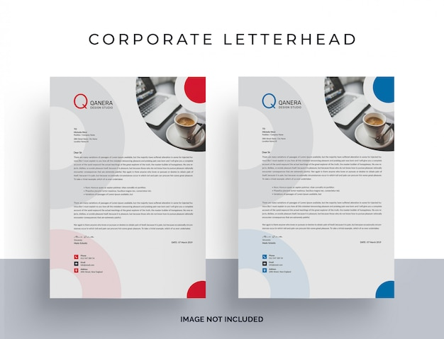 White letterhead template