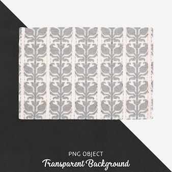 White and light gray patterned kitchen textile on transparent background