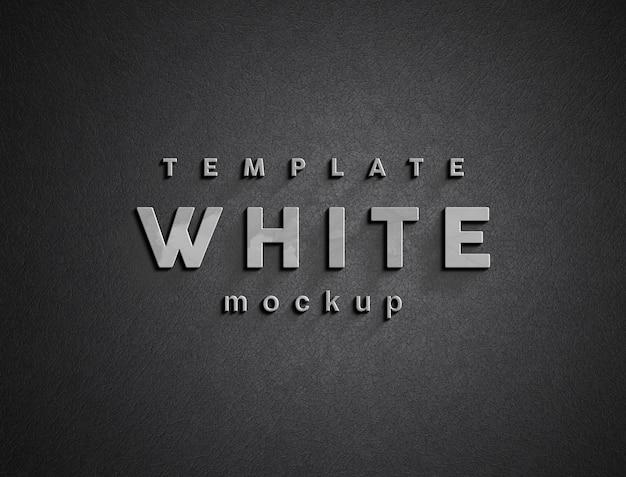 흰색 로고 모형