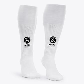 Макет белых длинных носков для вашего дизайна