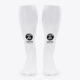White long socks mockup for your design
