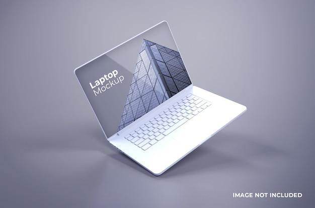 Белый макет macbook pro