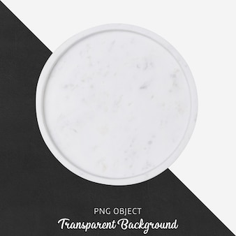 White marble serving plate