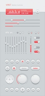 White media controls user interface kit