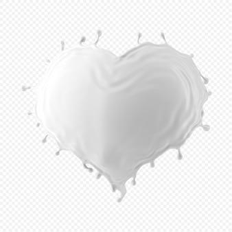 Белый всплеск молока изолирован
