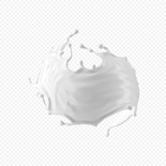 White milk splash isolated