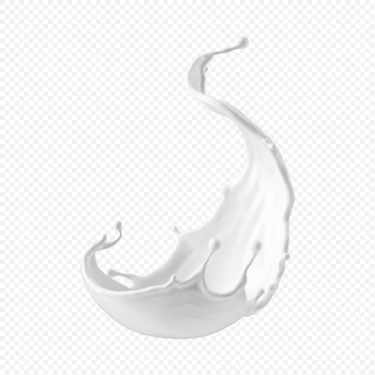White milk splash isolated