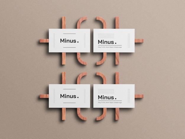 Белый минимальный макет визитной карточки