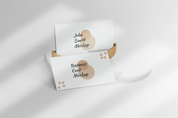 White minimalist business card mockup