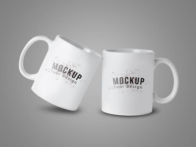 あなたのデザインのための白いマグカップカップモックアップ