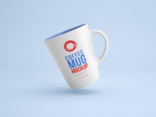 White mug with editable  color mockup