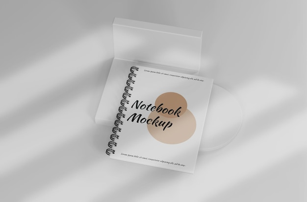 White notebook mockup